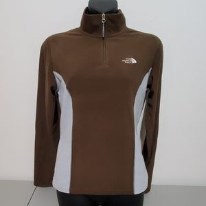 The North Face TKA 100 3/4 zip pullover small